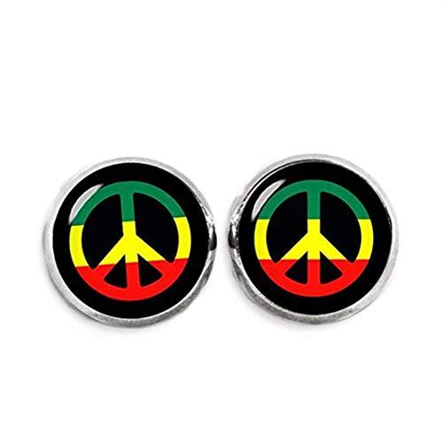 Pendientes de signo de la paz, pendientes rastafarian