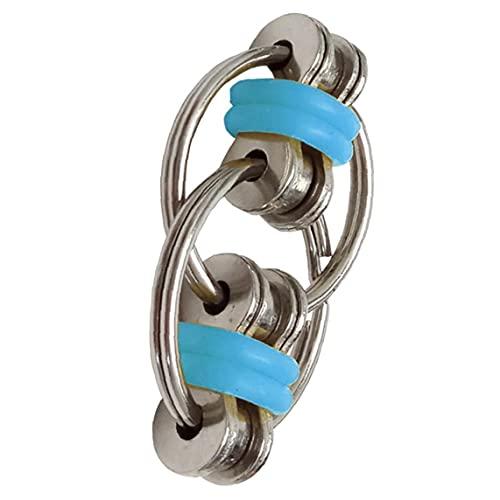 Schlüsselring Fidget Flippy Kette Fidget Spielzeug zu Entlasten Bremskraftbegrenzer Erwachsene und Kinder Blau 1PC,