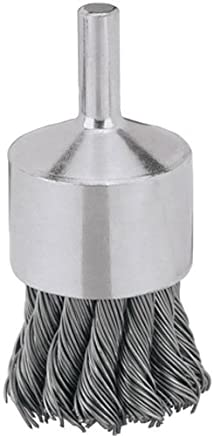 Pack of 10 Carbon Steel Wire 1//4 Diameter.006 Wire Diameter PFERD Inc. 20000 RPM 1//4 Diameter.006 Wire Diameter PFERD 83107 Singletwist Stem Mounted End Knot Wire Brush