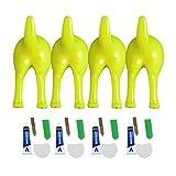 KLOVA 4 Uds Ganchos de Cola de Perro de plástico nórdico montado en la Pared Abrigo Sombrero Colgante de Llave decoración