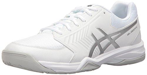 ASICS Men's Gel-Dedicate 5 Tennis Shoe, White/Silver, 8.5 M US
