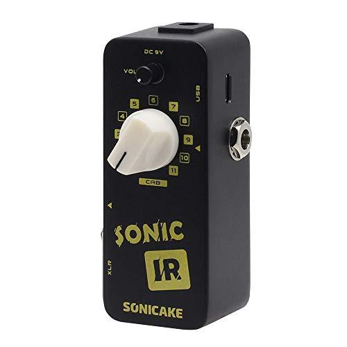 SONICAKE Sonic IR Speaker Cabinet Simulator Impulse Response Loader Pedal de efectos de bajo de guitarra