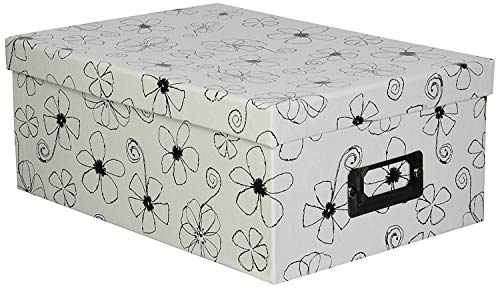 2PO Heavy-Duty Photo/Video Storage Box, Flowers Design