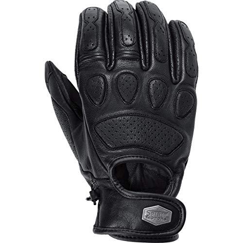 Spirit Motors Motorradhandschuhe kurz Motorrad Handschuh Retro-Style Lederhandschuh 1.0 schwarz 9, Herren, Chopper/Cruiser, Ganzjährig