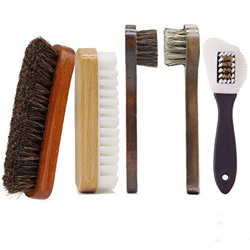 AlgaMarina Juego de Cepillos para Zapatos Limpiador de Zapatos Multifuncional para Limpieza y Cuidado de Zapatos, Botas, Asientos de Coche y Mueble de Piel (Modelo -2)