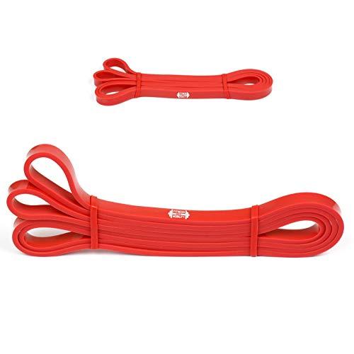 Rosso 5.5-13kg 1.3 cm RESISTENZA BAND Pull Up Bande Esercizio Loop Band Corpo Resistenza Di Addestramento UNITÀ SINGOLA Trazioni alla Sbarra Assistite Fasce Elastiche per l'Allenamento CrossFit