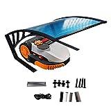 QYQPB Carport Shelter For Lawnmower Robot Garage, Jardín Césped Pequeño Cortacésped Canopy, Soporte De Hierro Recubierto Antioxidante De Sombra Los (Size : 80 * 70 * 35cm)