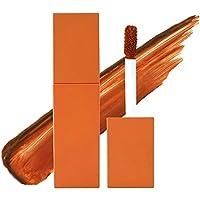 Sanvu Professional Makeup チャームリップグレーズ、保湿と保湿ベルベットマットリップグロス(オレンジ)
