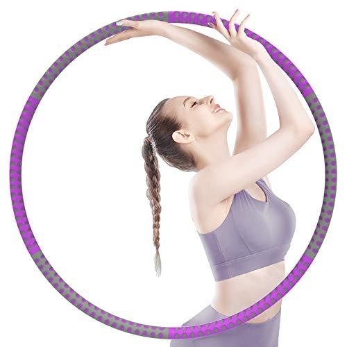 Sportout Fitness Hula Hoop Reifen Erwachsene (Violett-Grau)