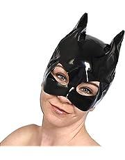 Máscara gatita charol de ojos, gato con orejas