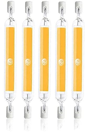 WEWQ R7S LED Bombillas AC 110V-240V 10W Dimmable LED 118mm COB Halógena Lámpara de halógeno Equivalente Spotlight 100W Ahorro de energía Fundación Luz Lineal-Blanco cálido_110V ~ 130V