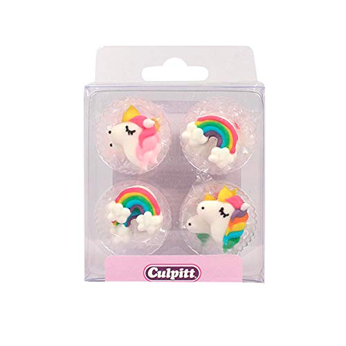 Culpitt 12 Figuras de azúcar, Arco Iris y Unicornio