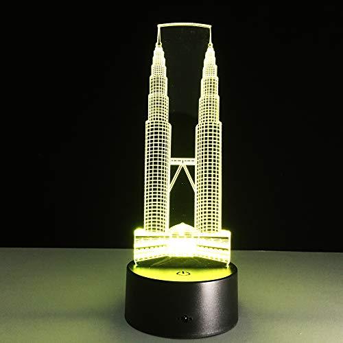 3D Led Veilleuses Remplaçables Humeur Lumières Chambre Table Lampes Enfants Amis Famille Cadeau Souvenirs