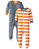 GERBER Baby Boys 2-Pack Footed Unionsuit, Camper, 9 Months