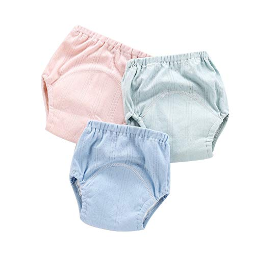 100% Cotton Training Pants Underwear Waterproof Girls Boys, Toddler Baby Cloth Diaper Panties Changing Nappy, Potty Training Learning Pants, Breathable Gauze Material,100, E1