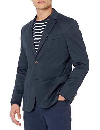 Amazon Essentials Men's Unlined Knit Sport Coat, Navy, Medium