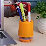 Smooni Bluetooth Speaker Pen Stand | Smart Colour Changing Pen Stand Wireless 3W Bluetooth Speaker with HD Bass & Hands Free Calling, Built-in Mic - White