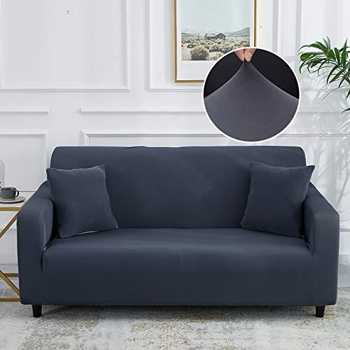 LiQinKeJi8 Funda de sofá, Cubierta de sofá sólido Plana elástica de la Cubierta Ajustada de la Cubierta del sofá Todo Incluido para la Sala de Estar Sofá Funda Sofá para sofás