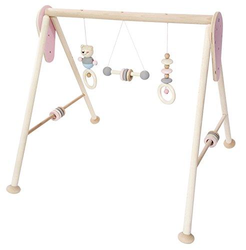 Hess Holzspielzeug 13382 - Babyspielgert aus Holz, nature rosa, ca. 60 x 55 x 55 cm
