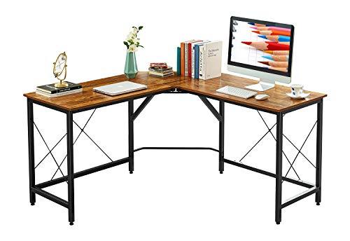 Mr IRONSTONE L-Shaped Desk 59' Computer Corner Desk, Home Gaming Desk, Office Writing Workstation, Space-Saving, Easy to Assemble (Vintage)