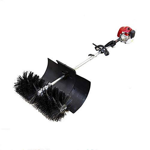GDAE10 Outdoor Hand Held Broom, 52cc Gas Power Broom Walk Behind Sweeper Cleaning Driveway Tools High Performance Cleaner 2.3HP 1.8M (US Stock)