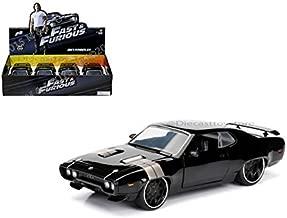 FAST & FURIOUS 8 - DISPLAY 1:24 DOM'S 1972 PLYMOUTH GTX BLACK 1PC 98428 BLACK BY JADA (NO RETAIL BOX)