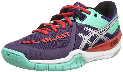 ASICS Gel-Blast 6 - Zapatillas de Balonmano para Mujer, Color Morado (darkberry/Silver/Aqua Mint 3693), Talla 40