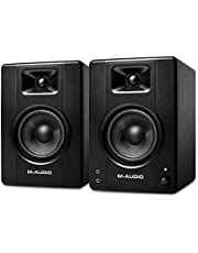 M-Audio BX4-120-Watt Powered Desktop Computer Speakers/Studio Monitors for Gaming, Music Production, Live Streaming and Podcasting (BX4 Pair)