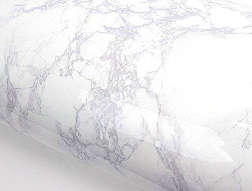 DIY リフォームシール ホワイト大理石 表面磨き仕上げ 防水 インテリア カッティングシート約61cm巾×2m巻