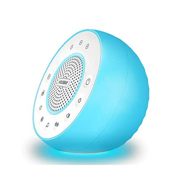Housbay Glows White Noise Sound Machine – Night Light for Baby, Kids, 31 Soothing Sounds for Sleeping, Relaxation – Sleep Machine for Adults, Baby