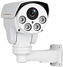 Jennov POE Security Camera 5MP(2592x1944) HD IP PTZ Security Camera CCTV Home Video & Audio Surveillance Outdoor Pan Tilt & 5X Zoom Night Vision Motion Detection Free Phone App Remote View