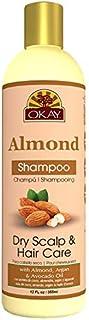 Okay Almond Shampoo Dry Hair & Scalp Care Hydrate, Moisturize, Soften With Almond, Argan & Avocado Sulfate, Silicone & Par...