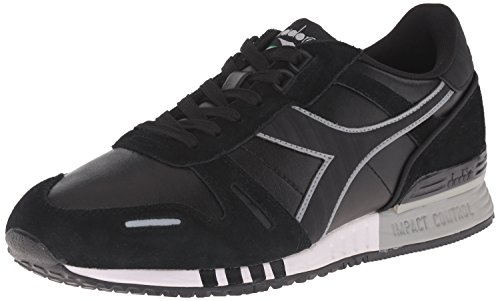 Diadora Men's Titan Leather l/s, Black/Black, 9.5 M US