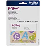 Brother ScanNCut PigPong Lettering Collection CAPPNP01, Includes 3 Sets of Letters with 108 Designs, Vintage Fonts, Flowery Numbers and Tags for Papercrafts, Greeting Cards and More