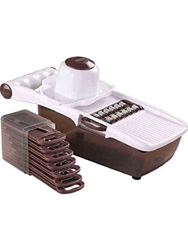 LOMONI picadora ajustable cortadora de verduras de cocina herramienta de cocina rallador de patata y cebolla cortadora de mandolina de frutas y verduras marrón
