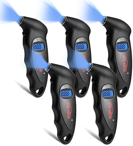 CZC AUTO Digital Tire Pressure Gauge Reader Checker 4 Settings Digital PSI Tire Gauge with Lightened product image