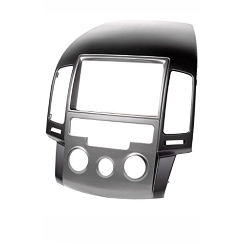 CARAV 11-141 2-DIN Marco de plástico para Radio para Hyundai i30 (FD) 2008-2011 (Manual A/C/Left Wheel, Not for UK Cars)