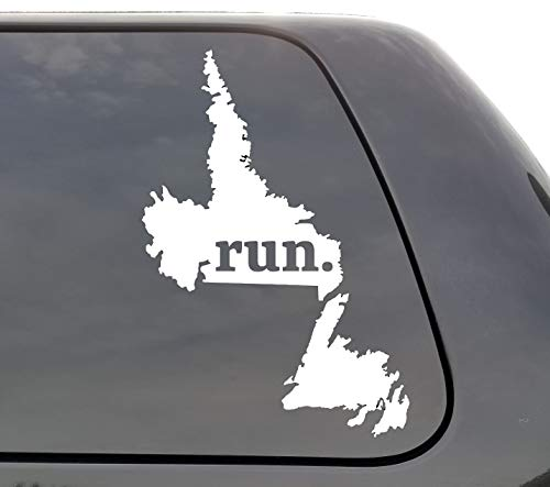 DKISEE Newfoundland en Labrador Run Decal, NL Run Decal, Provincie Loopsticker, Auto Decals, Yeti Decal, Laptop Decal, Window Decal, Canada, Vinyl 6 inch Onecolor
