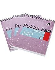 Pukka Pad s SM024 A5 80 gsm krótka podkładka do pisania - metaliczny zestaw 3 szt.