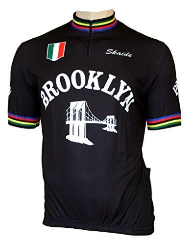 Skaide Ciclismo da Brooklyn Black Nero Retro, Nero