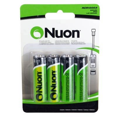 Nuon - (4 Pack) RCR10003 1.2V Nuon AA Rechargeable