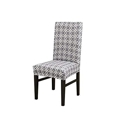 Stuhlhusse, dehnbar, bedruckt, große elastische Stuhlhusse, Bank-Bezüge, Bürostuhlhusse, für Esszimmer, Party, Zuhause, 3-Universalgröße