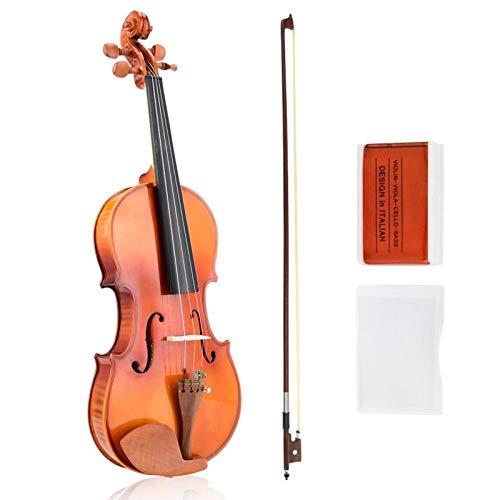4/4 violino, bom timbre, firme, instrumento musical de tom preciso, portátil para estudante iniciante, uso profissional geral(AV-05 Mother Tiger Violin)