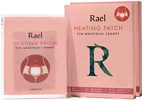 Rael Natural Herbal Heating Patches - PMS Relief, Heat Therapy, Ultra-Thin Design, On The Go Size (2 Pack, 6 Count)