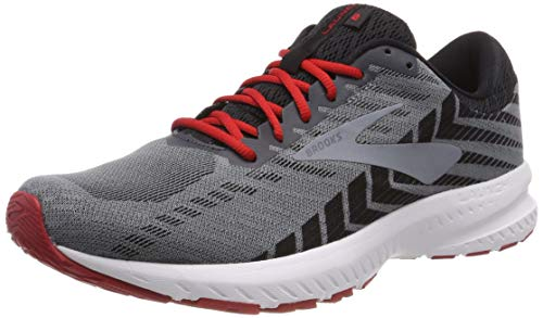 Brooks Mens Launch 6 Running Shoe - Ebony/Black/Cherry - D - 10.0