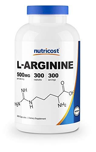 Nutricost L-Arginine 500mg, 300 Capsules - Gluten Free and Non-GMO