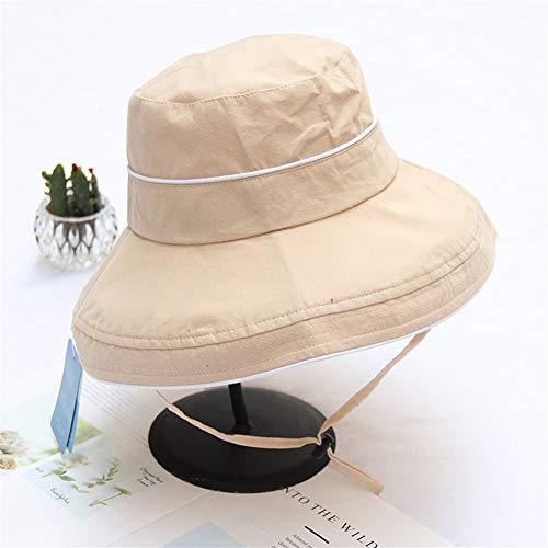 Bin Zhang Giapponese Pescatore Signora Incantesimo Colore Cotone Estate Sole Cappello UV Sole Coreano Selvaggio Anti-UV Pot Cappello Cappello, Cotone, Beige, Regolabile