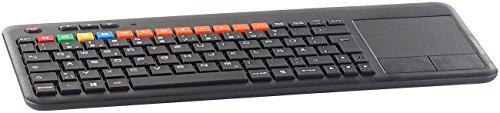 GeneralKeys TV Tastatur: Funk-Tastatur m. Touchpad, für Smart-TVs von Samsung u.v.m, PC, PS3/4 (Smart TV Tastatur)