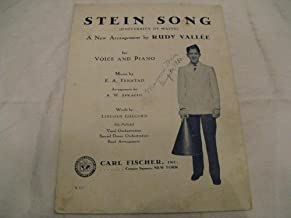 STEIN SONG RUDY VALLEE 1930 SHEET MUSIC SHEET MUSIC 371