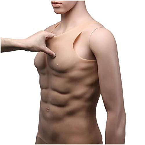 XBSXP Músculos del Pecho Falso de Silicona - Vientre de músculo Falso Artificial - Chaleco de músculos de simulación Artificial Traje de músculo de Pecho Masculino Realista Músculo pecto